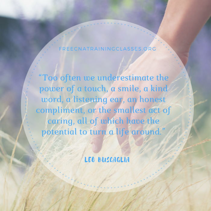 """""""Too often we underestimate the power of touch…"""""""